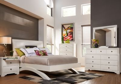 Best Belcourt White 5 Pc King Platform Bedroom Bedroom Sets With Pictures