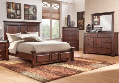 Best Clairfield Tobacco 5 Pc King Panel Bedroom Bedroom Sets With Pictures