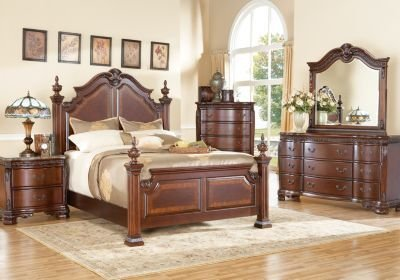 Best Cortinella 7 Pc Queen Poster Bedroom Bedroom Sets With Pictures