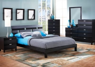 Best Gardenia Black 6 Pc Queen Platform Bedroom Bedroom Sets With Pictures