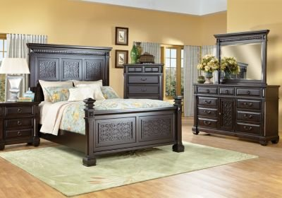Best Cindy Crawford Marisol Park Queen Black 8Pc Panel Bedroom With Pictures