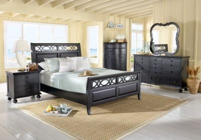 Best Cindy Crawford Home Seaside Black 5 Pc King Sleigh Bedroom With Pictures