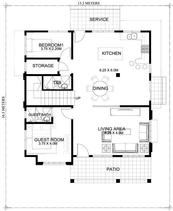 Best Marcelino Four Bedroom Two Storey Mhd 2016021 Pinoy With Pictures