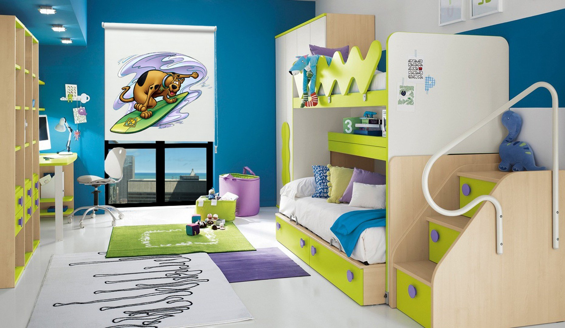 Best Roller Scooby Doo Room Tm65 » Κουρτίνες By Woodline Saliveros With Pictures