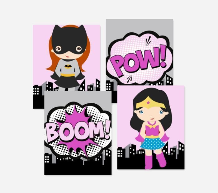 Best Cool Superhero Wall Decor For Girls Rooms With Pictures