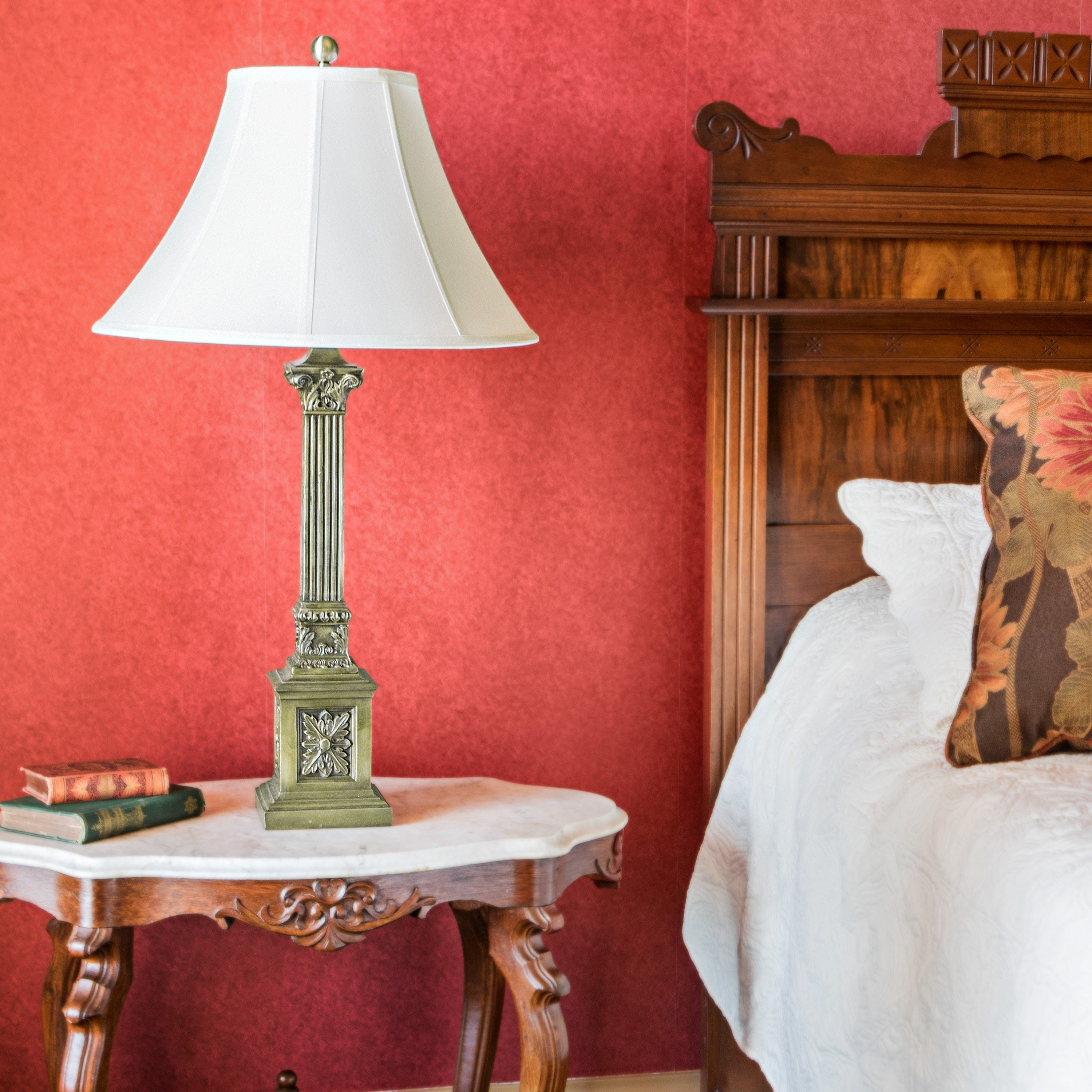 Best Red Bedroom Lamp Video And Photos Madlonsbigbear Com With Pictures