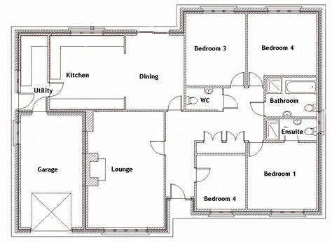 Best Four Bedroom House Plans Best With Picture Of Four Bedroom With Pictures