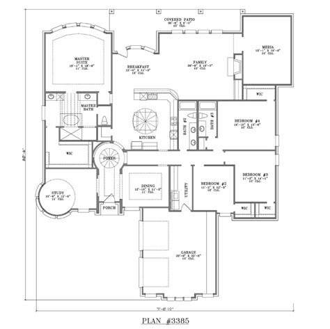 Best 4 Bedroom One Story House Plans Marceladick Com With Pictures