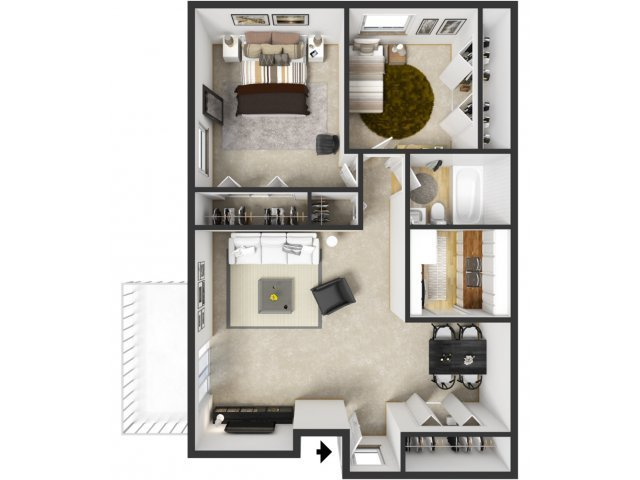 Best 2 Bed 1 Bath Apartment In Wyoming Mi Sunflower Apartments With Pictures Original 1024 x 768