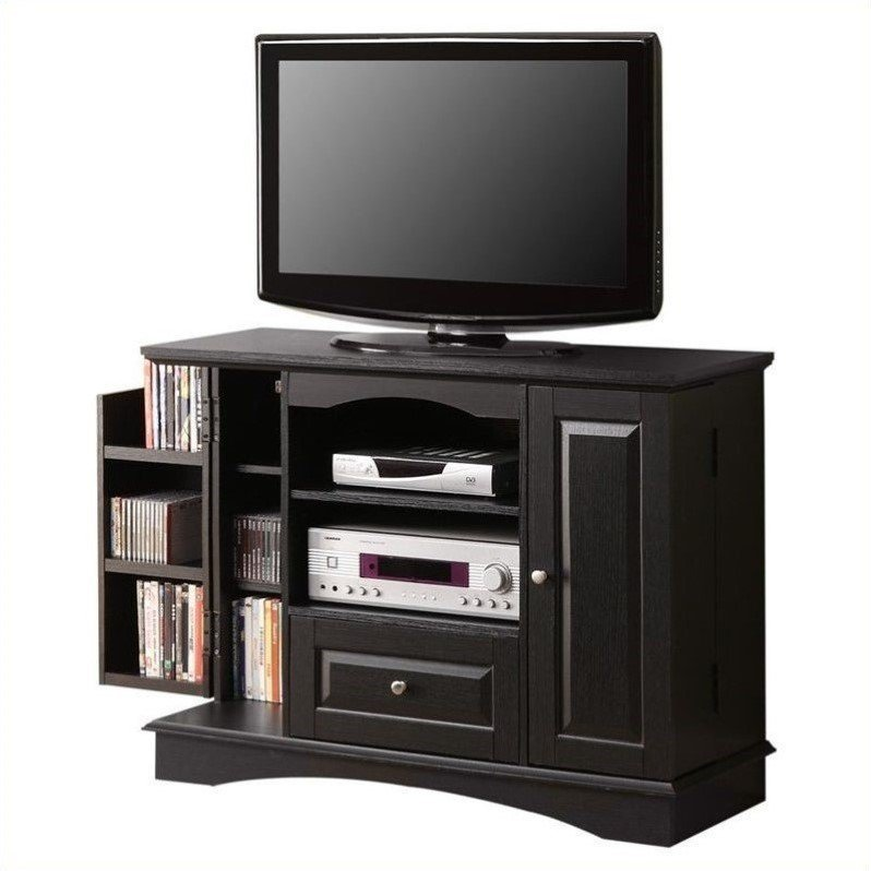 Best Walker Edison 42 Bedroom Console W Media Storage Black Tv Stand Ebay With Pictures