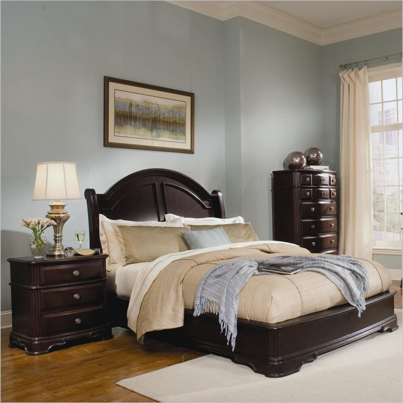 Best Homelegance Grandover Panel Bed 3 Piece Bedroom Set In Dark Cherry With Pictures