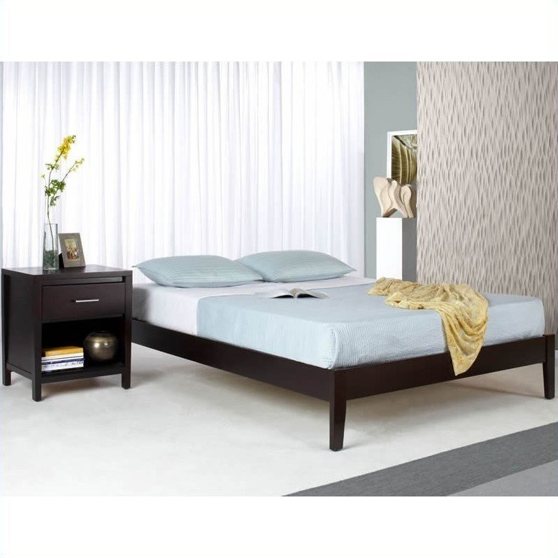 Best Modus Furniture Nevis Simple Platform Bed Espresso 2 Pc With Pictures