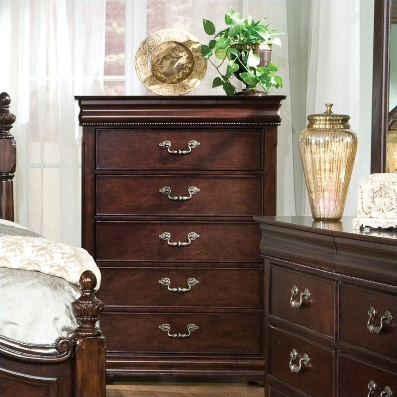 Best Standard Furniture Westchester 6 Pc Rich Cherry Bedroom Set With Pictures