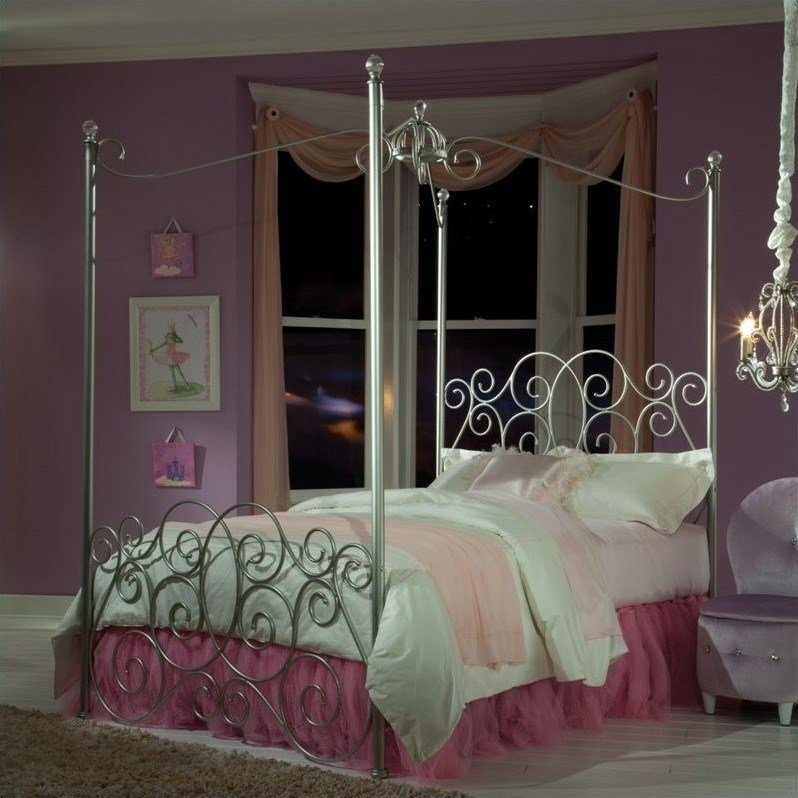 Best Standard Furniture Princess Canopy Silver Finish Bed With Pictures