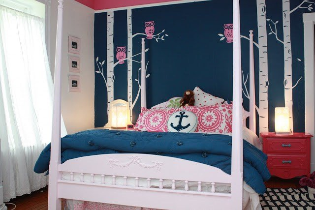 Best Navy And Pink T**N Girls Bedroom – Revisited My Old With Pictures