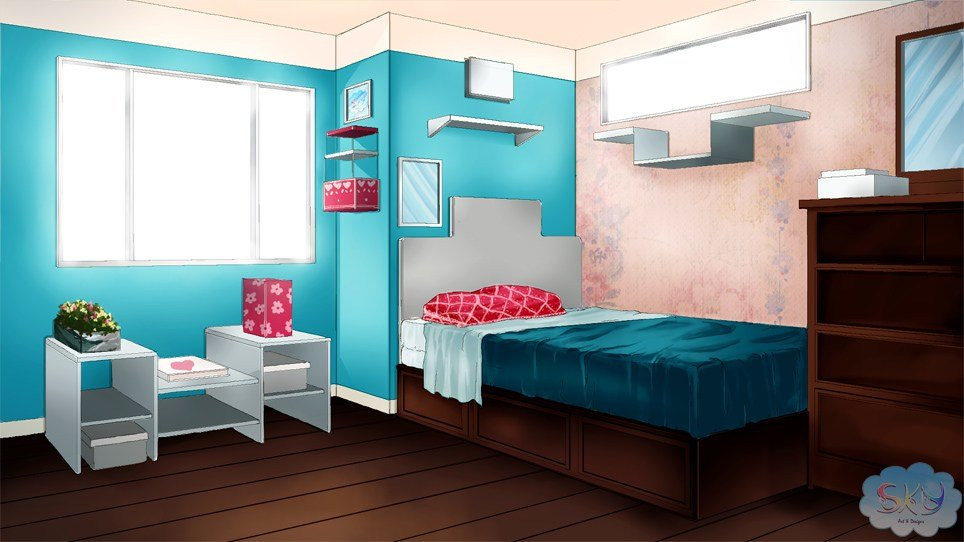 Best Visual Novel Bedroom Background 1 By Sky Morishita On With Pictures