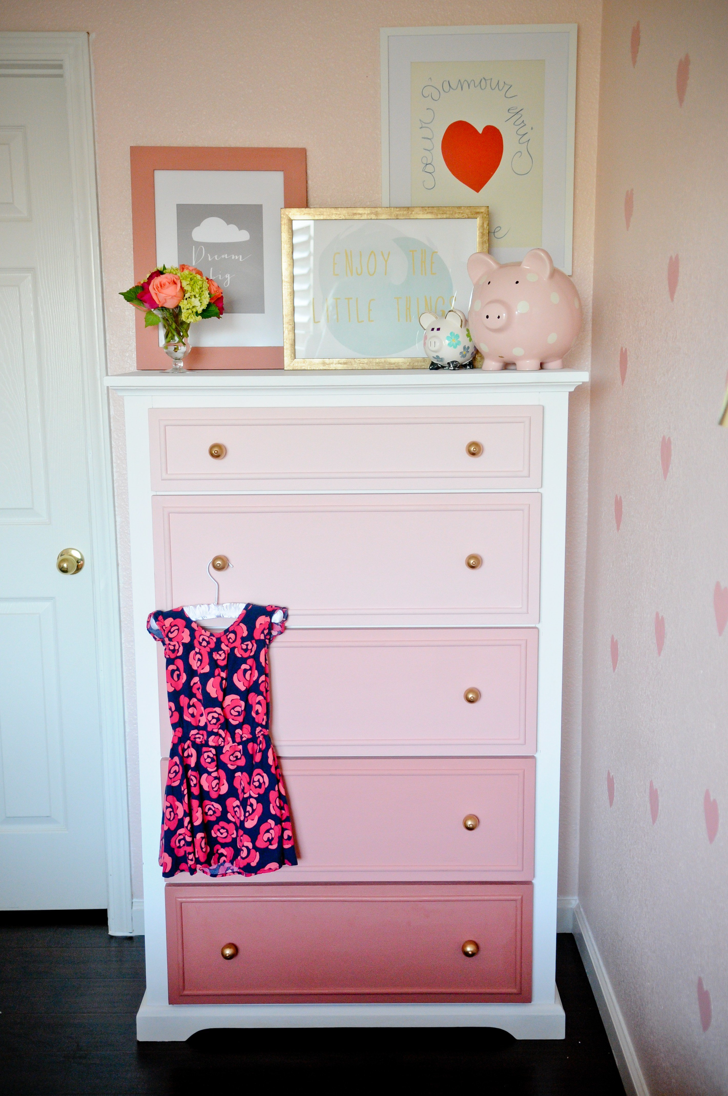 Best Diy Ombre Dresser Tutorial Project Nursery With Pictures