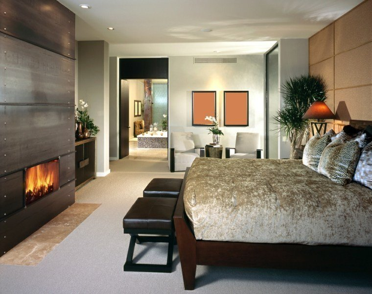 Best Inspiring Radiant Master Bedrooms With Cozy Designer Fireplaces With Pictures