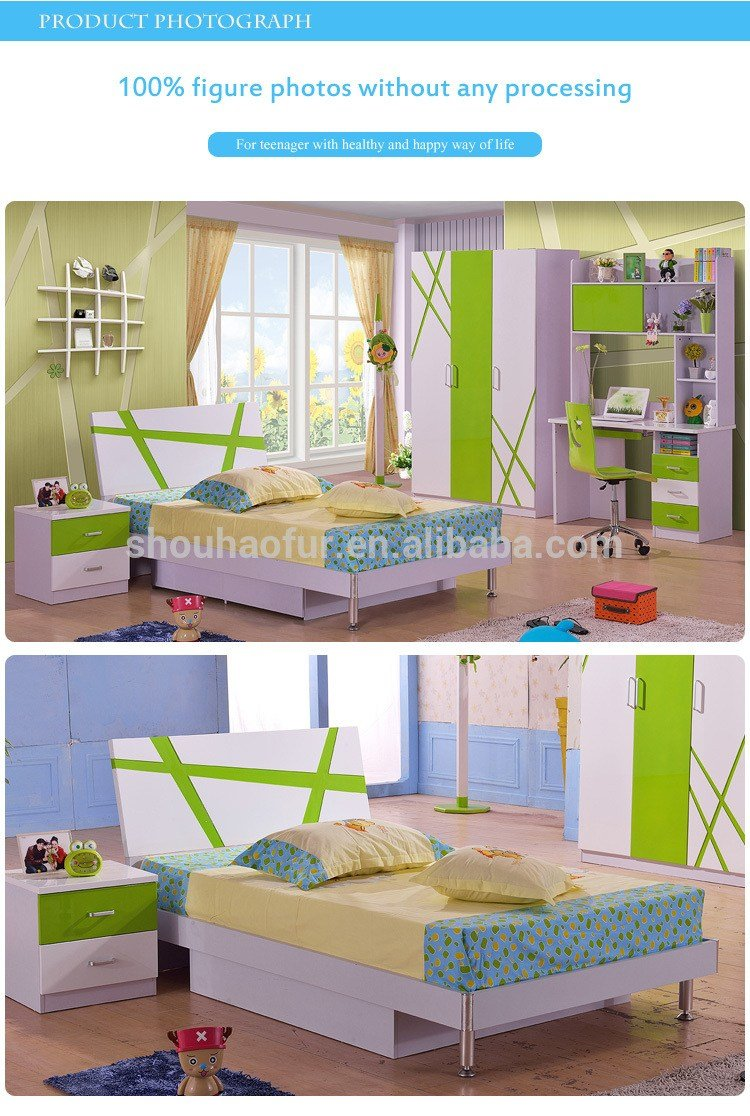 Best Green White Kids Bedroom Furniture Dubai 8110 Buy With Pictures
