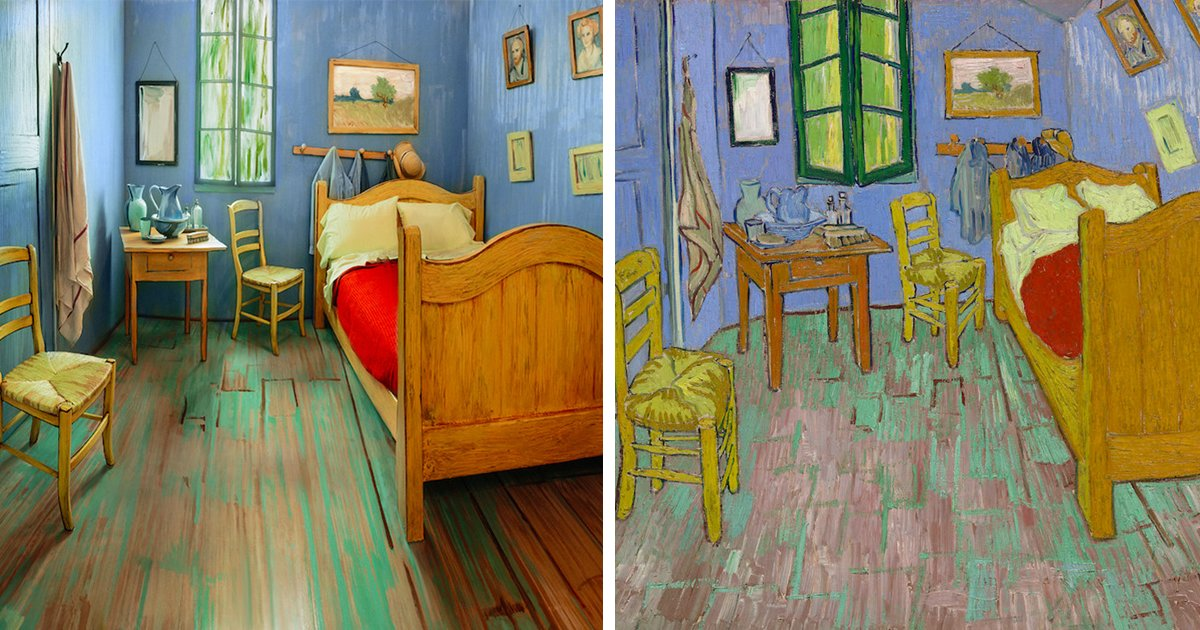 Best Artists Recreate Van Gogh's Iconic Bedroom And Put It For With Pictures