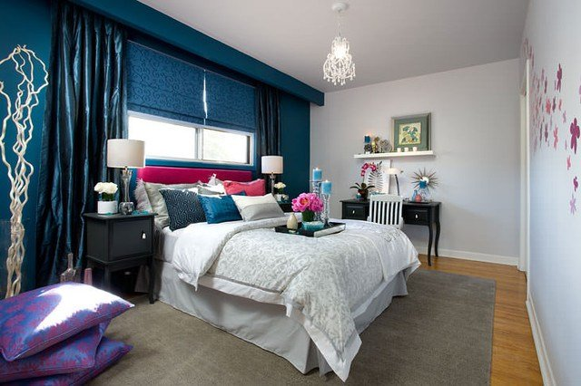 Best Jane Lockhart Blue Pink Bedroom Contemporary Bedroom With Pictures