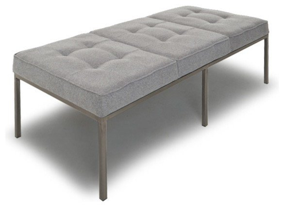 Best Sullivan Leather Bench Modern Upholstered Benches By With Pictures