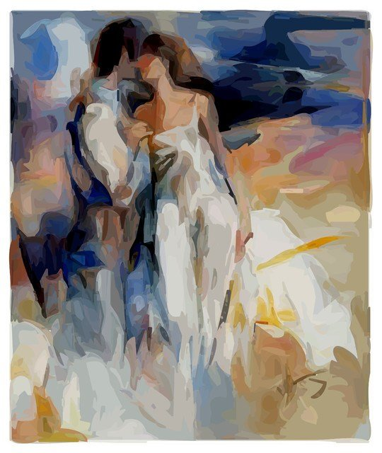 Best Romentic Couple Custom Canvas Prints Modern Artwork With Pictures