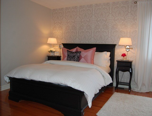 Best Damask Wallpaper In Master Bedroom With Pictures