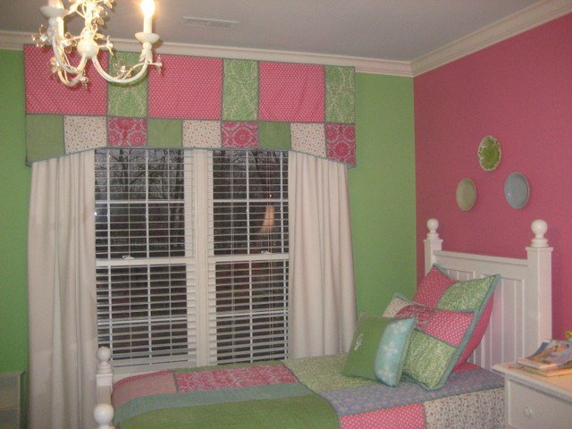 Best Girls Pink And Green Bedroom Traditional Kids Dc Metro With Pictures