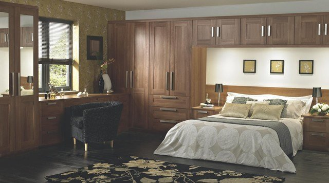 Best Shaker Walnut Style Modular Bedroom Furniture System With Pictures