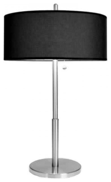 Best Luxury Tall Bedroom Table Lamps With Black Linen Shade Modern Table Lamps Raleigh By With Pictures