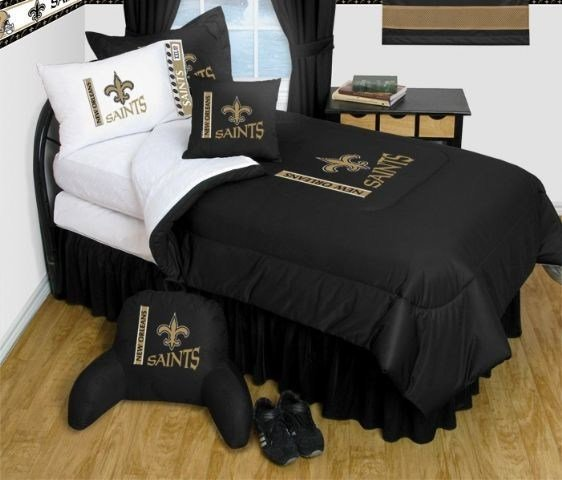 Best New Orleans Saints Nfl Bedding Complete Set Queen W 2 With Pictures