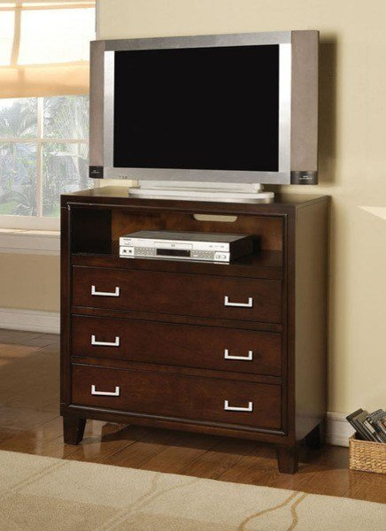 Best Acme Furniture Preston Espresso 3 Drawers Tv Console With Pictures