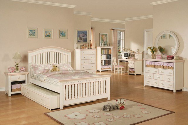 Best White And Pink Girls Bedroom Set Contemporary Kids With Pictures
