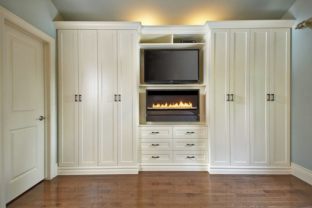Best Antique White Wall Unit Contemporary Bedroom Toronto By Space Solutions Ca With Pictures