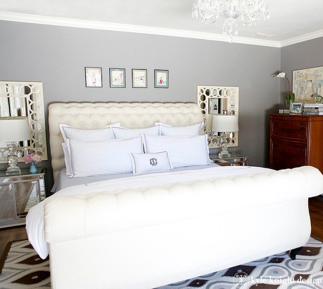 Best Gray And Ivory Bedroom Eclectic Bedroom Dallas By With Pictures
