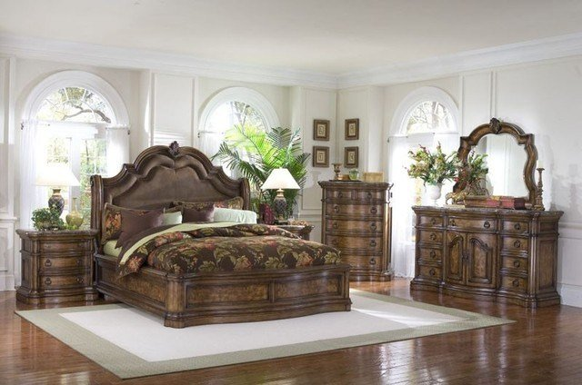 Best Pulaski Furniture San Mateo Sleigh 5 Piece Bedroom Set San Mateo 5 Pc Set Traditional With Pictures