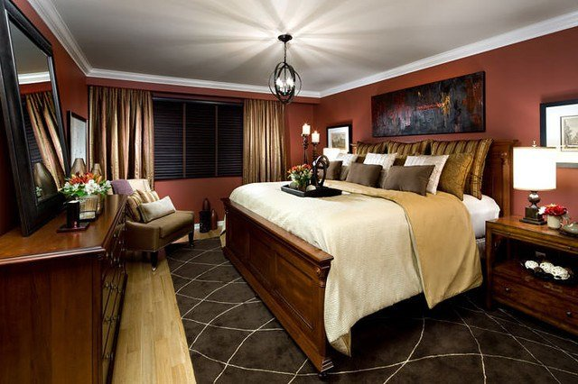 Best Jane Lockhart Red Gold Bedroom Traditional Toronto With Pictures