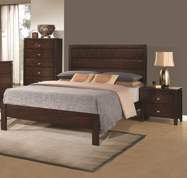 Best Camarillo Collection 3 Piece Rich Brown Solid Wood Bedroom With Pictures