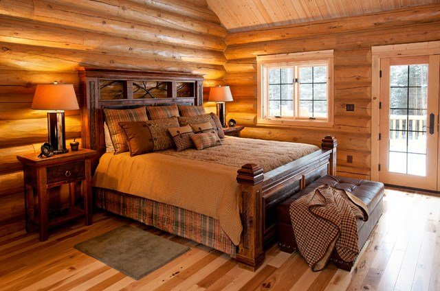 Best Reclaimed Wood Rustic Cabin Bed Rustic Bedroom Other With Pictures