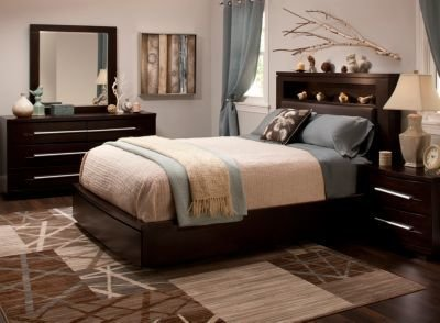 Best Wall Street 4 Pc King Bonded Leather Platform Bedroom Set W Storage Bed Bedroom Sets With Pictures