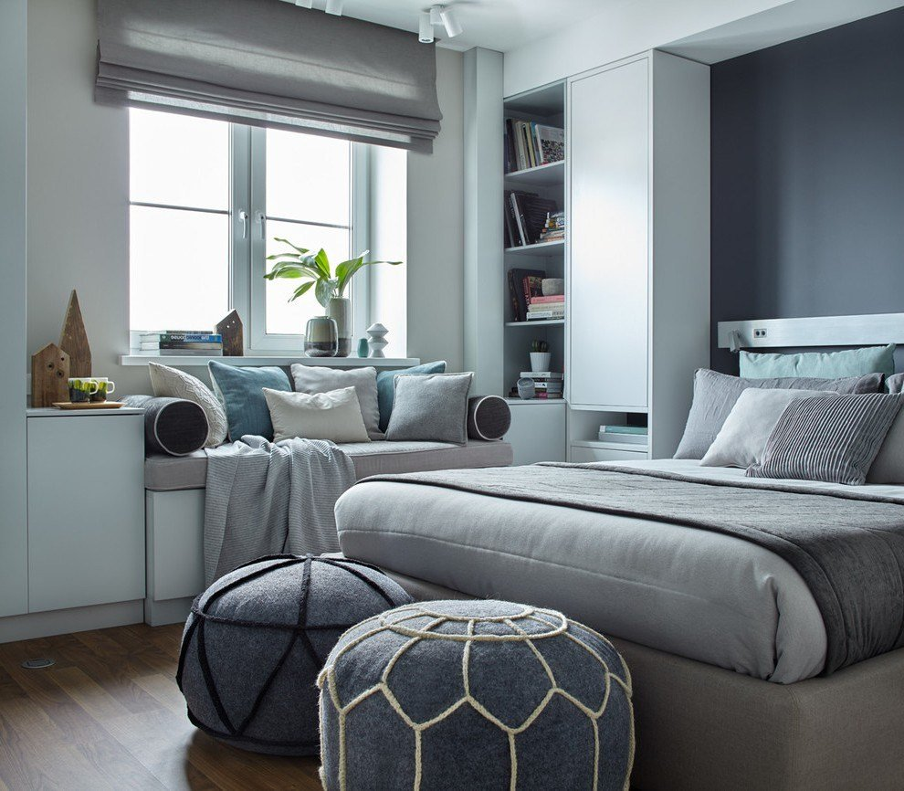 Best Impressive Tiffany Blue And Grey Bedroom Beach Style With With Pictures
