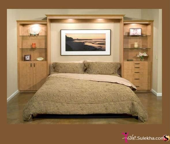 Best Awesome Headboard Wall Unit Idea For The Home Pinterest With Pictures