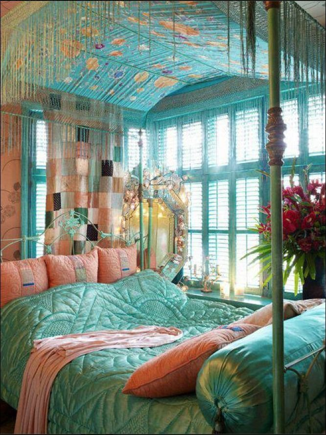 Best Turquoise And Peach Bed And Bedroom Pinterest With Pictures