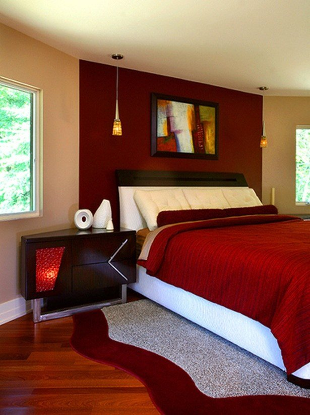 Best Love The Red Accent Wall Den Home Sweet Home Pinterest With Pictures