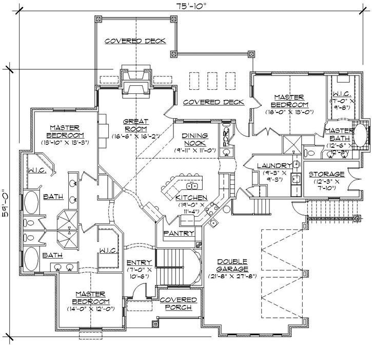 Best 3 Master Suites Home Plans Pinterest With Pictures