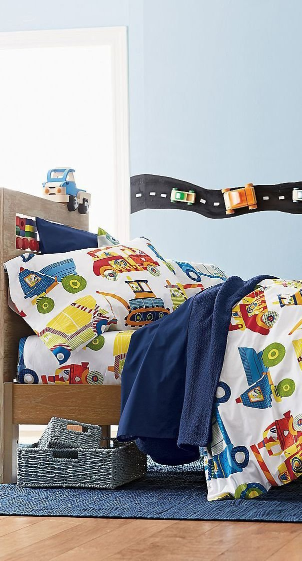 Best Construction Bedding Boys Bedrooms Boys Bedding Room With Pictures