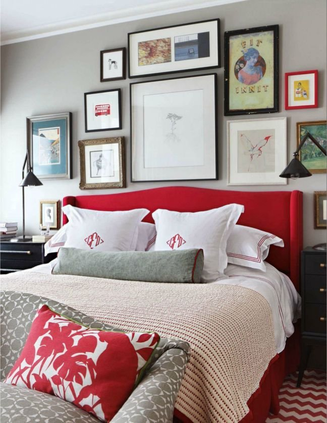 Best Master Bedroom Grey And Red Palette Grey Red Bedroom With Pictures