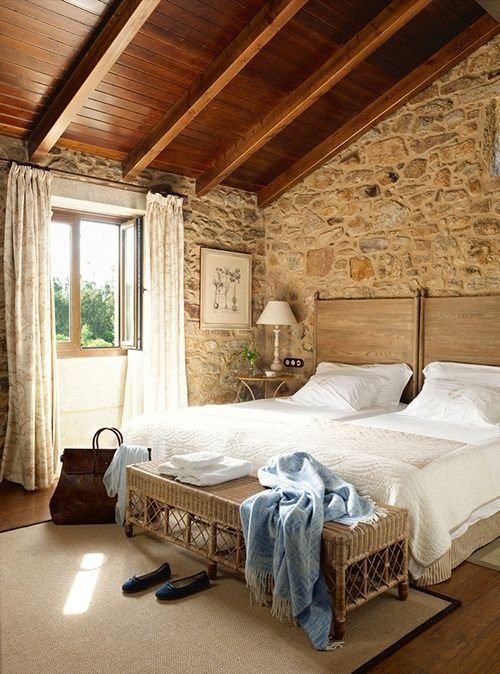 Best Bedroom Love The Stone Walls Beddybye Pinterest With Pictures