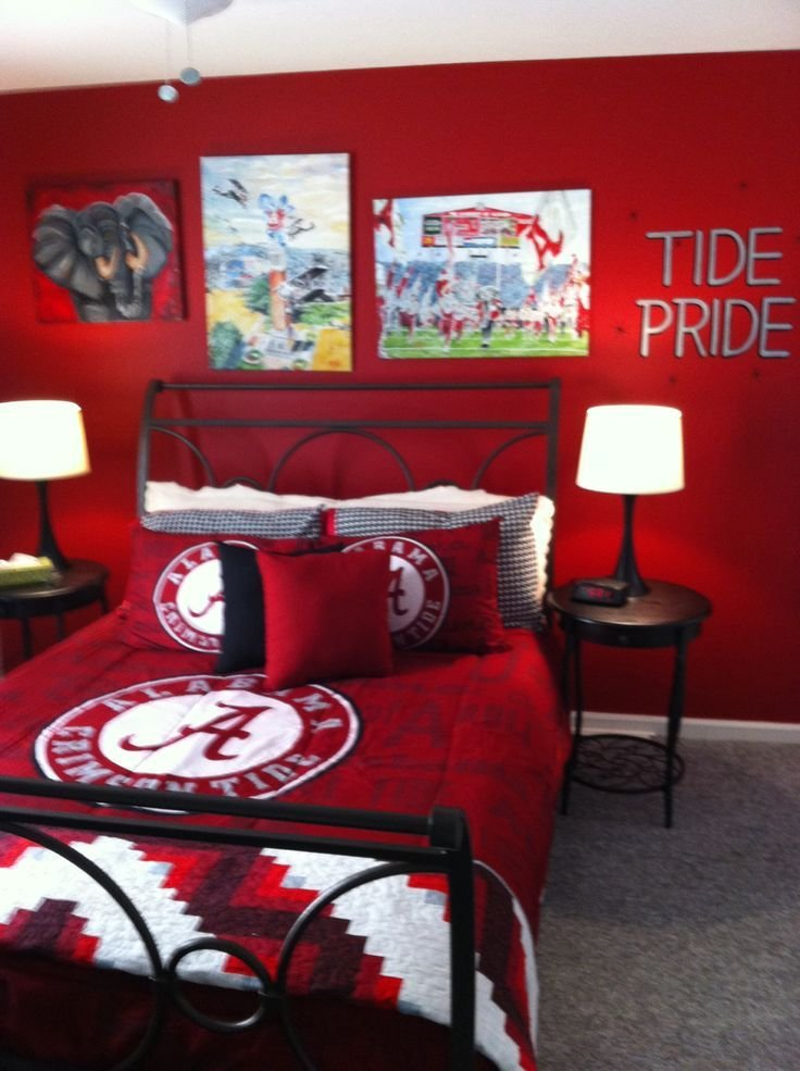 Best Alabama Bedroom Roll Tide Roll Pinterest With Pictures